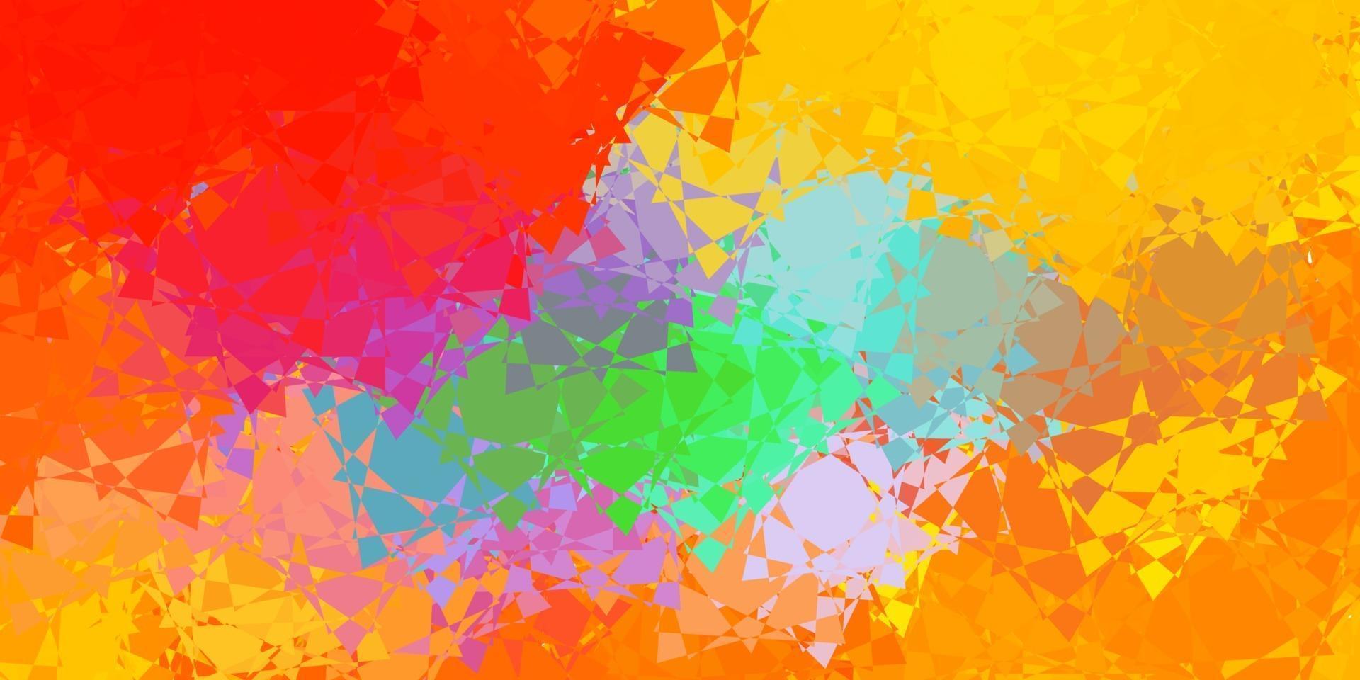 luz padrão multicolorido de vetor com formas poligonais.