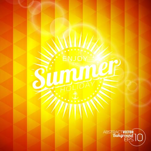 tema das férias de verão vetor