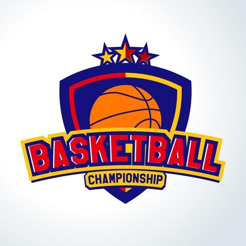 Logotipo do basquetebol, moldes do esporte camiseta vetor