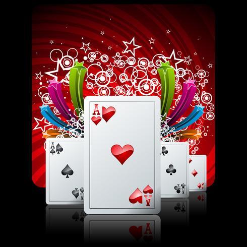 ilustração de jogos de azar com elementos de cassino vetor