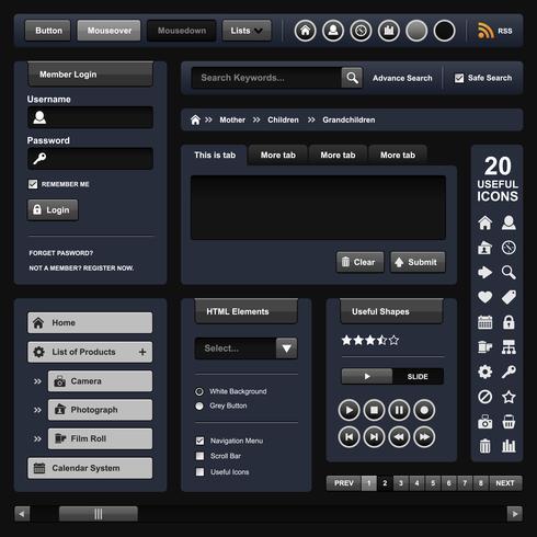 Modelo de elemento de Web Design. vetor