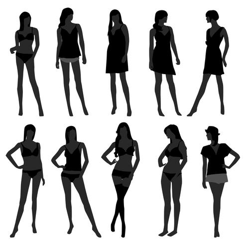 Modelos de moda feminina. vetor