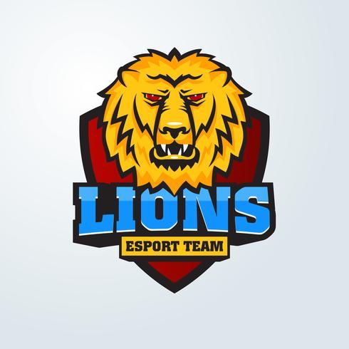 Mascote o focinho de um leão. vetor
