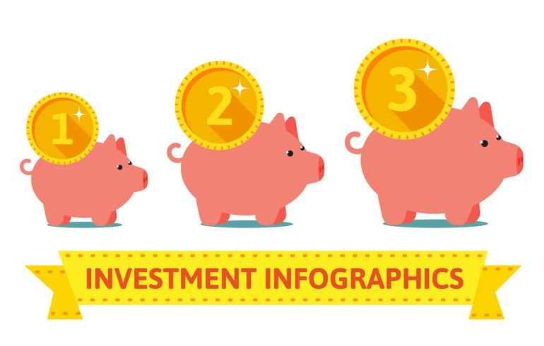 Infográficos do banco de porcos vetor