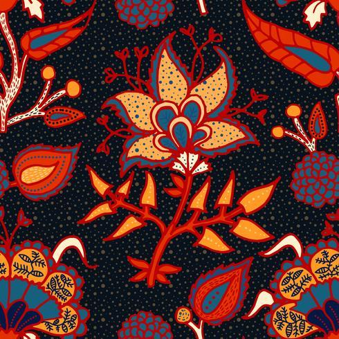 Ornamento paisley nacional indiano para algodão, tecidos de linho. vetor