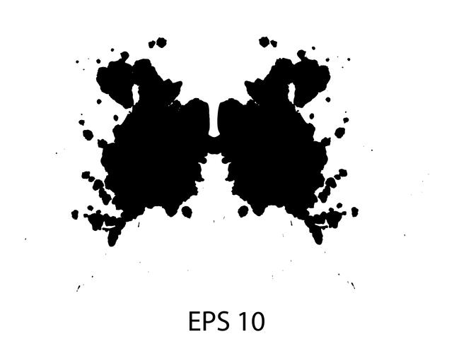 Rorschach inkblot teste ilustração, fundo abstrato aleatório vetor