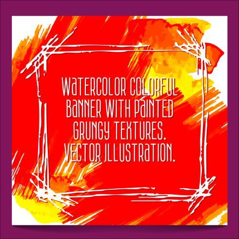 fundo aquarela abstrata vetor