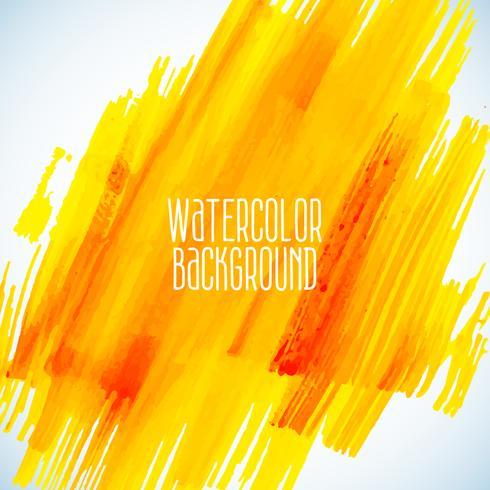fundo amarelo aquarela abstrata vetor