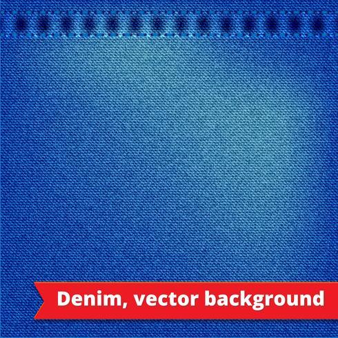 Fundo de textura de denim azul vetor