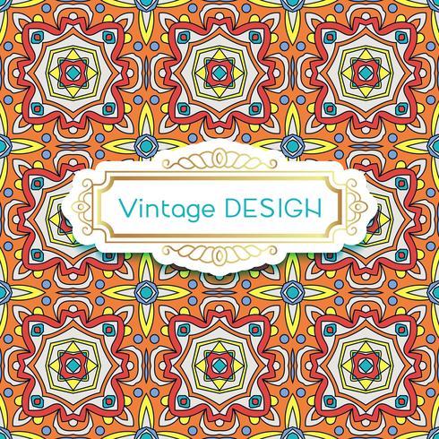 Antiguidade, azulejos do fundo do vintage no estilo português das telhas. vetor