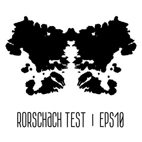 ilustração de teste de mancha de tinta de rorschach vetor