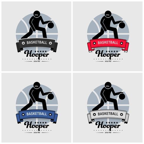 Design de logotipo do clube de basquete. vetor