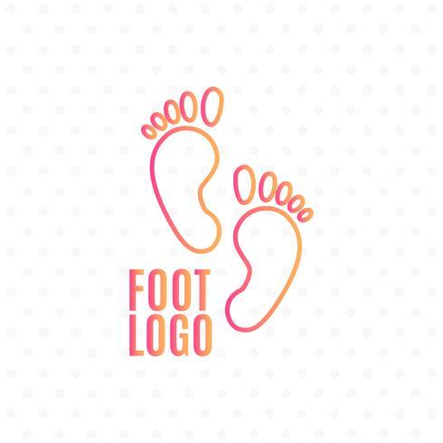 Ícone de sinal de pegada humana. Símbolo descalço. Silhueta de pé. vetor
