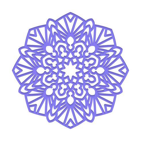 Mandala Meditação indiana do casamento. vetor