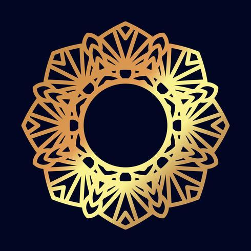 Mandalas de ouro. Meditação indiana do casamento. vetor