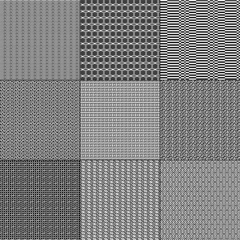 mod padrões geométricos em preto e branco vetor