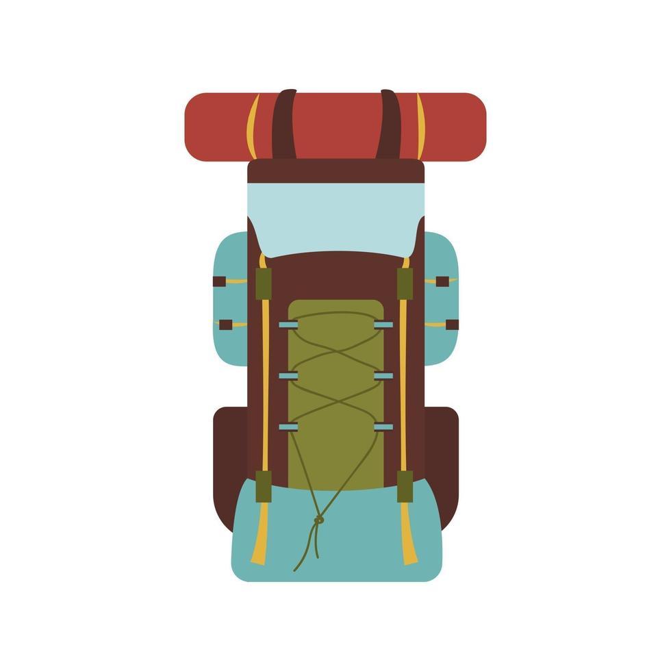 mochila de caminhada para viagens e férias. item turístico de verão vetor