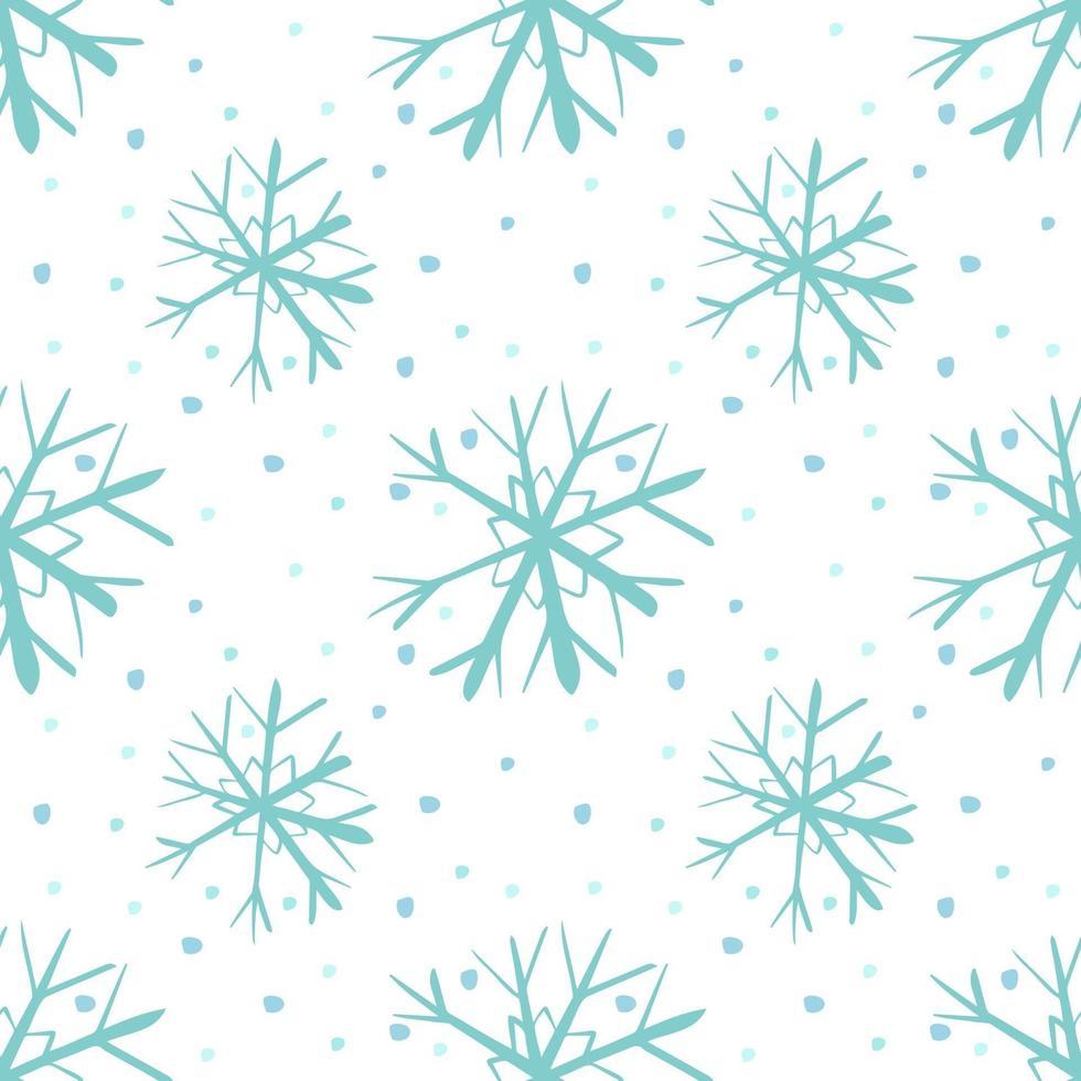 decorações festivas de natal, flocos de neve sem costura padrão vetor