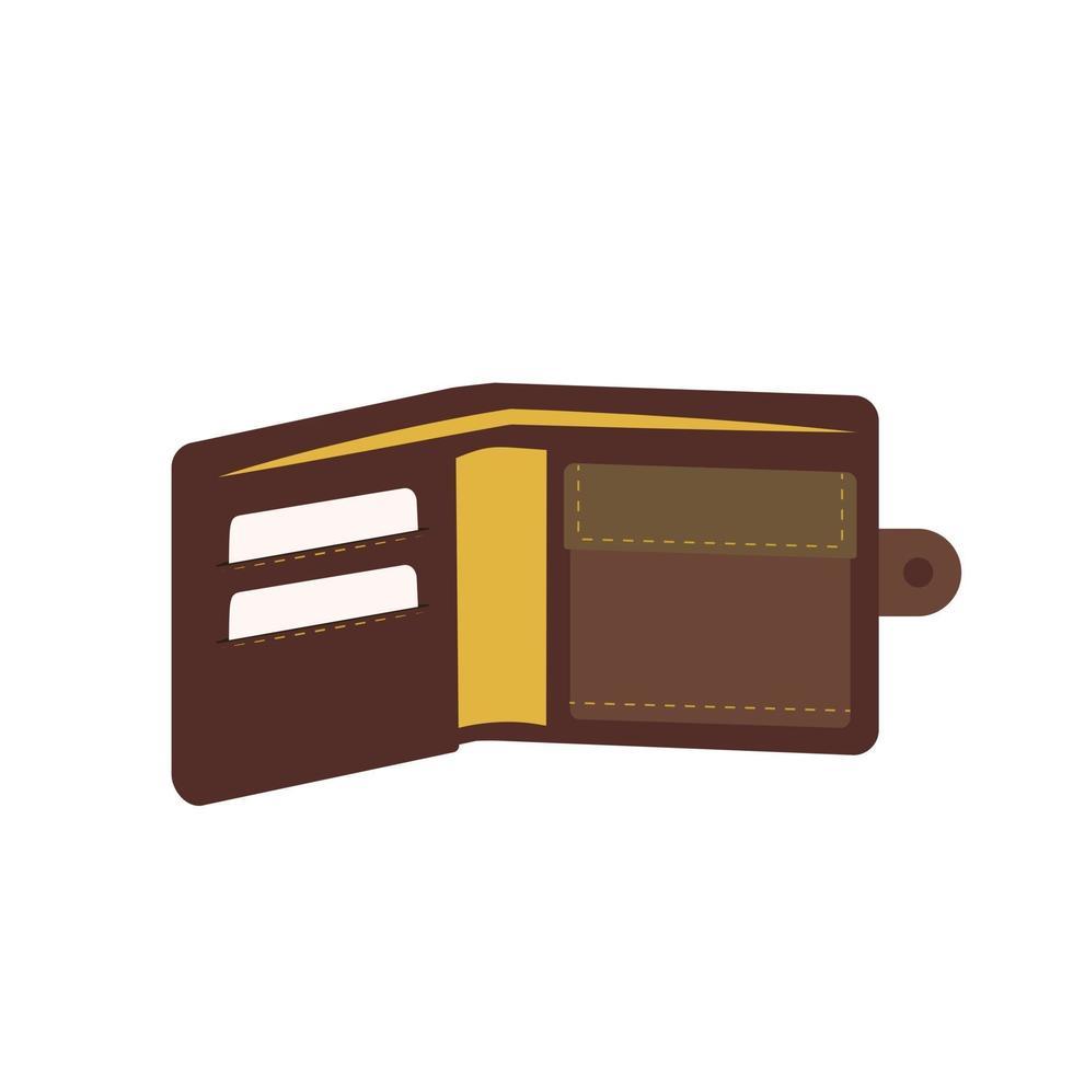 ícone de carteira masculina para dinheiro e cartões de crédito vetor