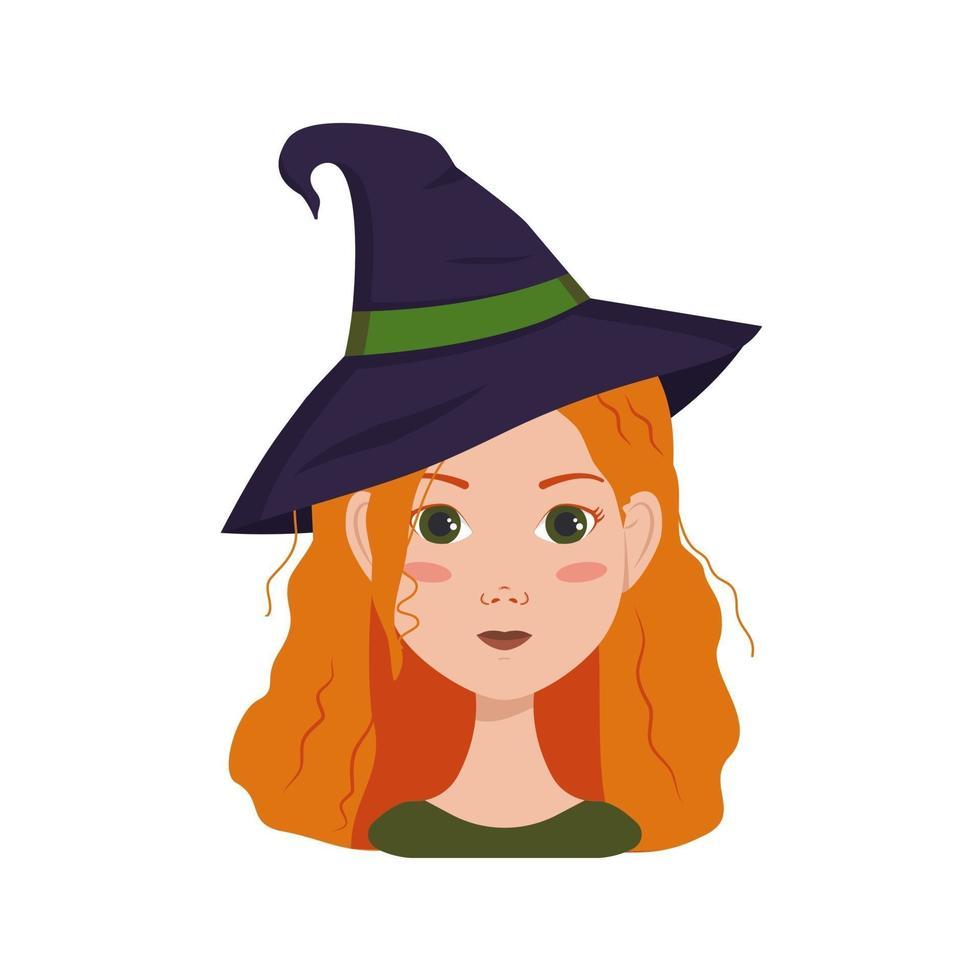 avatar de uma mulher com cabelo ruivo cacheado, emoções de alegria e felicidade vetor