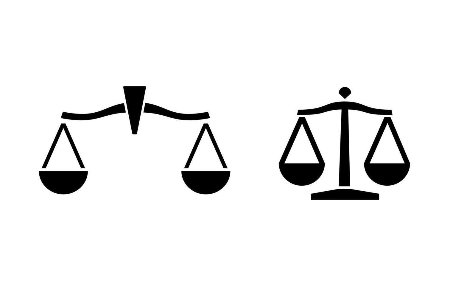 logotipo da balança jurídica vetor
