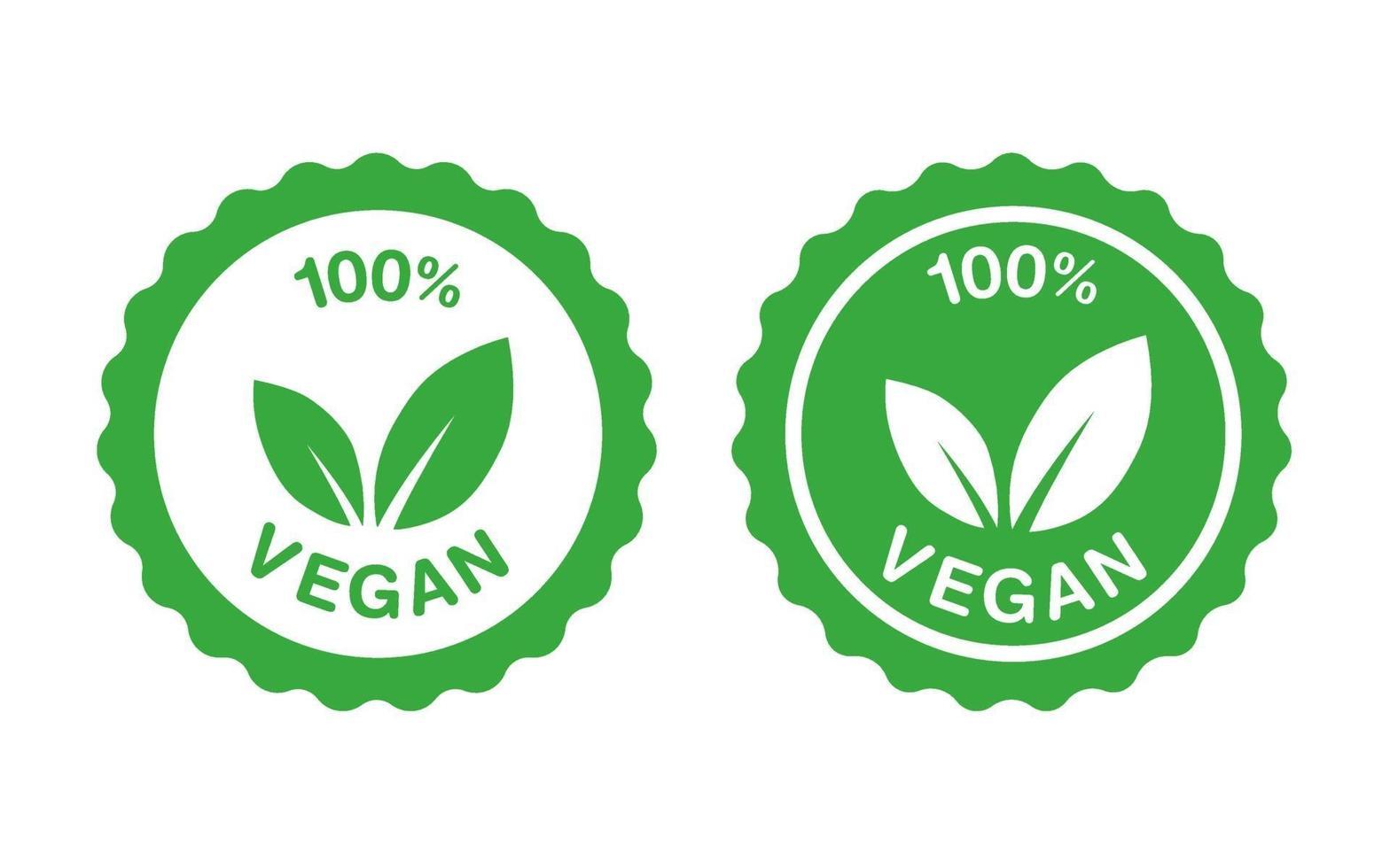 adesivo de selo de aprovação vegan vetor