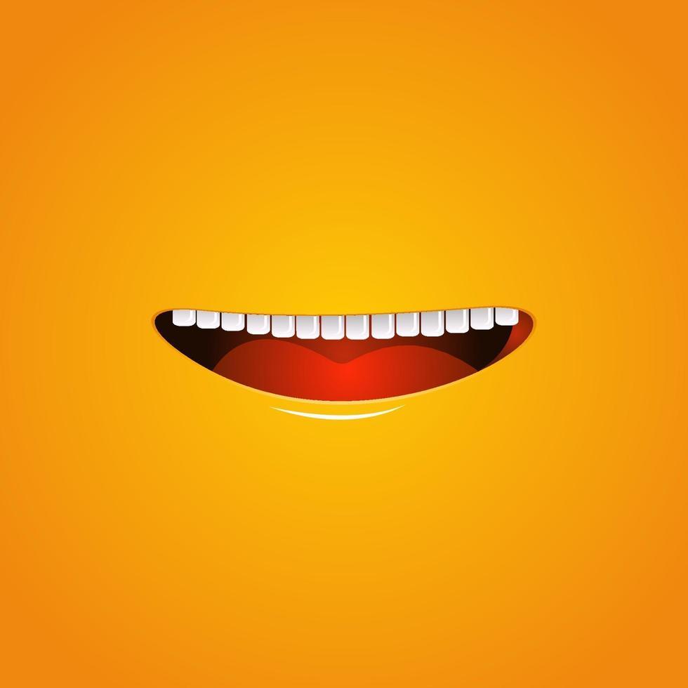 sorriso felicidade design de fundo vetor