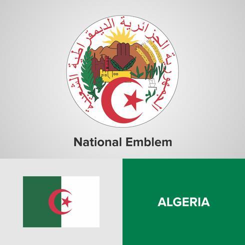 Emblema nacional, mapa e bandeira vetor
