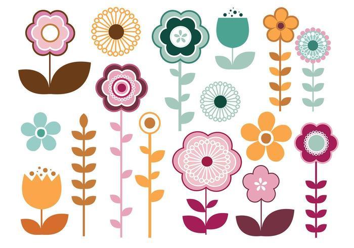 Pacote elegante de vetores de flores