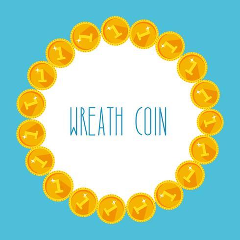 Quadro de moedas de ouro vetor
