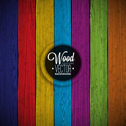Projeto de madeira pintado do fundo da textura da cor do vetor. vetor