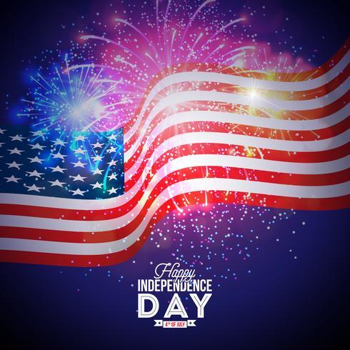 Feliz Dia da Independência da Ilustração EUA vetor