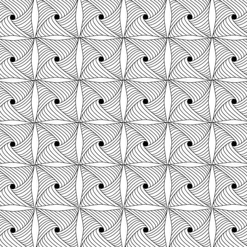 padrão geométrico preto e branco vetor