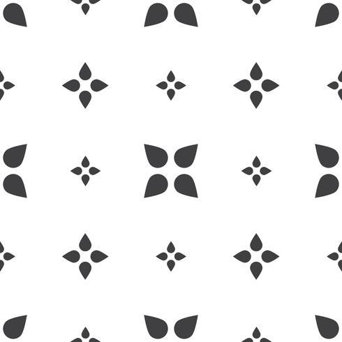 Padrões universais sem costura geométricas monocromáticas de ladrilho. vetor