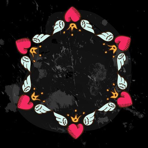 coração do quadro vetor