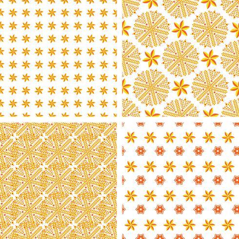 Conjunto padrão sem emenda abstrato laranja vetor