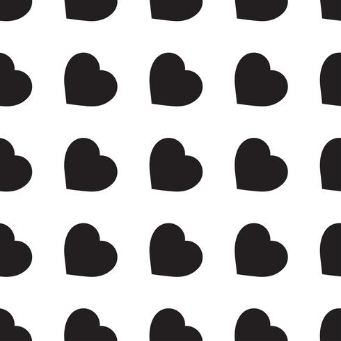 Monocromático padrão sem emenda com corações vetor
