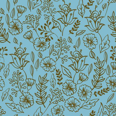 Padrão sem emenda floral vintage vetor