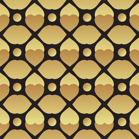 Universal preto e ouro sem costura padrão de ladrilho. vetor