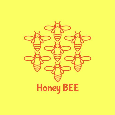Badge Bee para identidade corporativa vetor