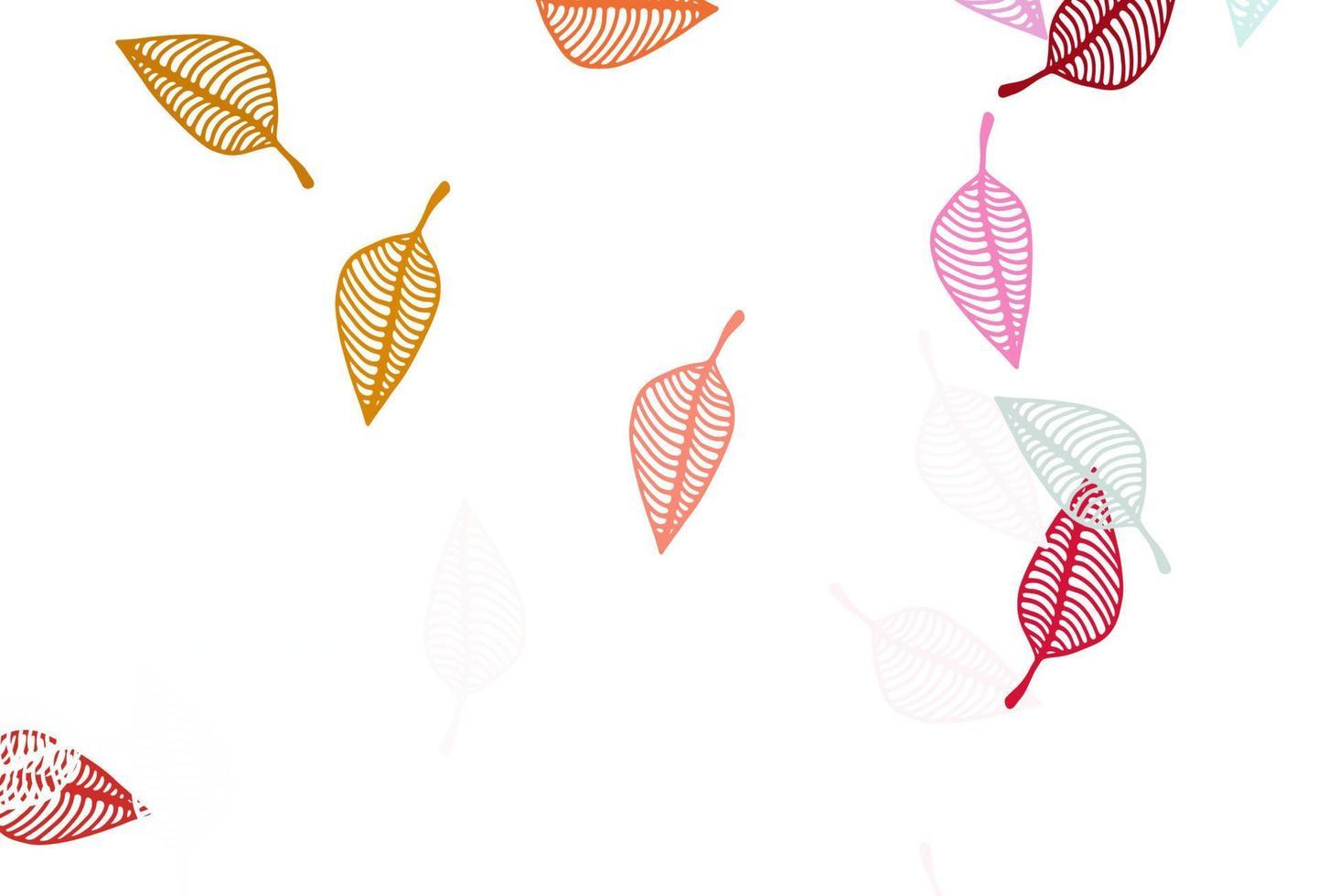 modelo de doodle de vetor rosa e amarelo claro.