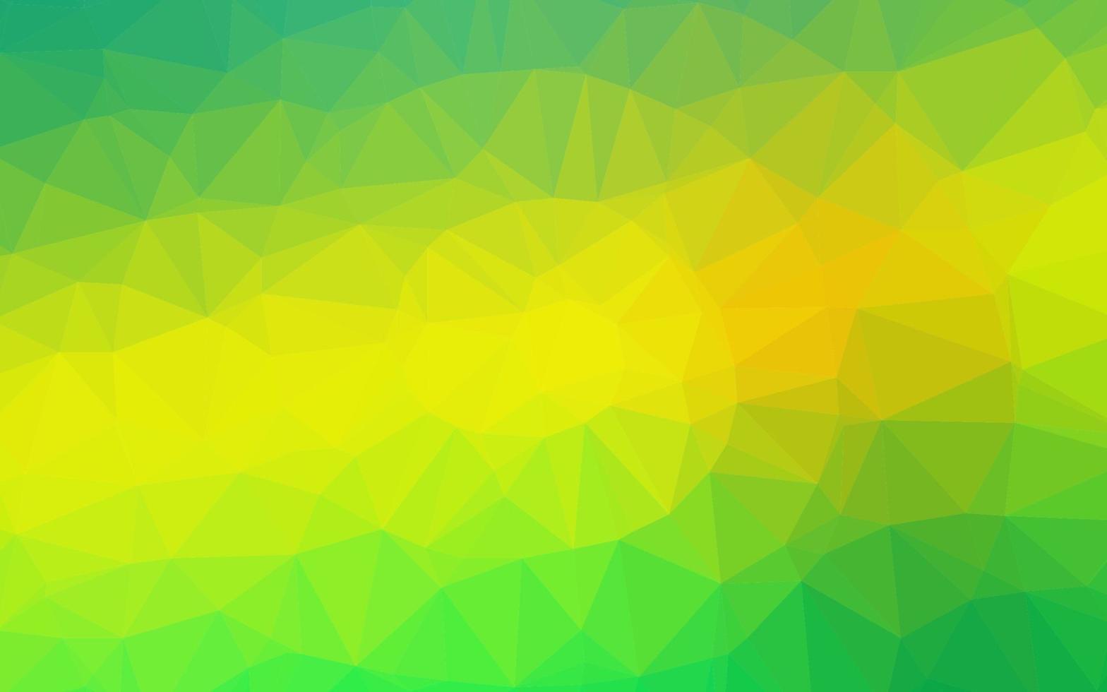 textura de mosaico de triângulo de vetor verde e amarelo claro.