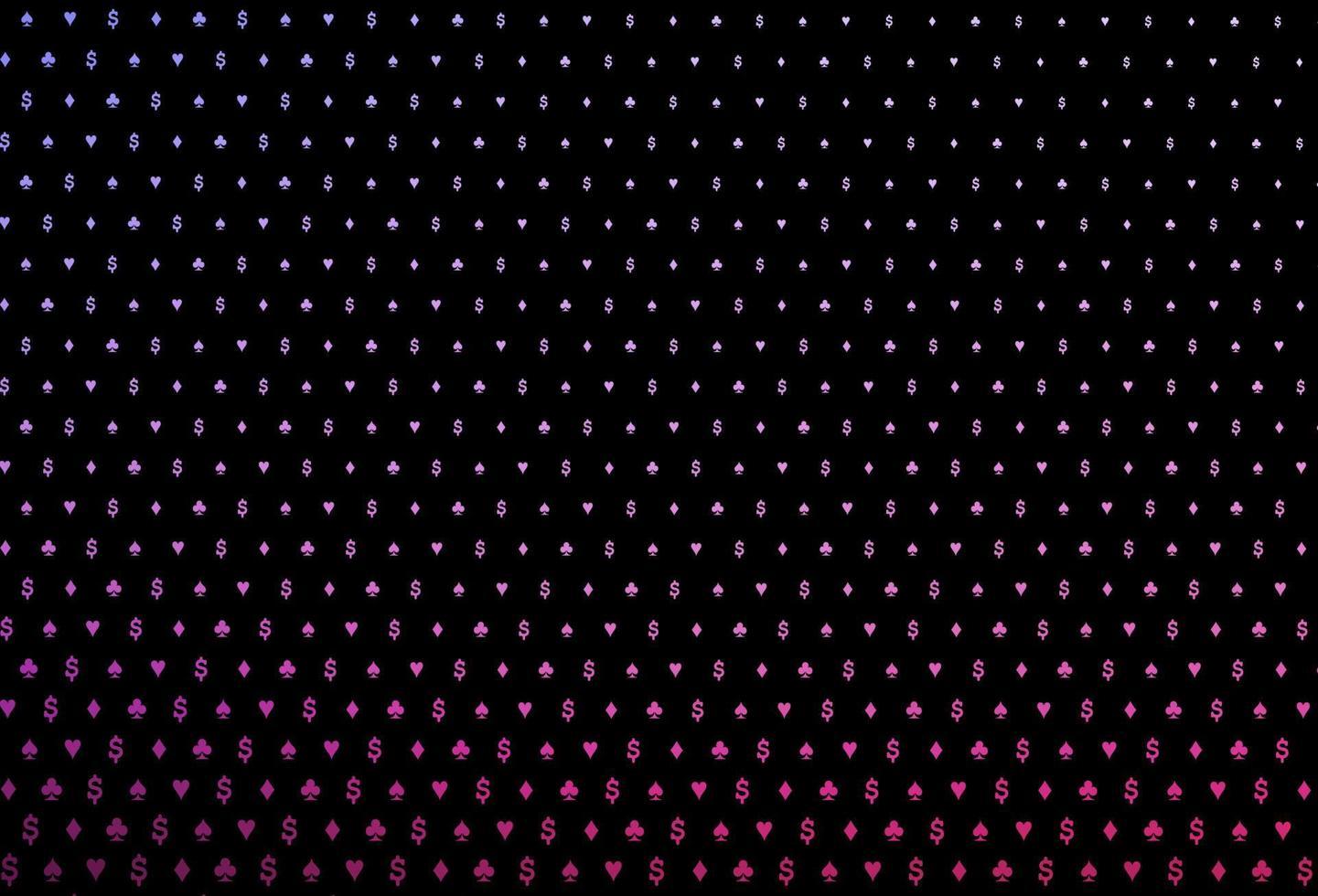 layout de vetor rosa escuro, azul com elementos de cartas.