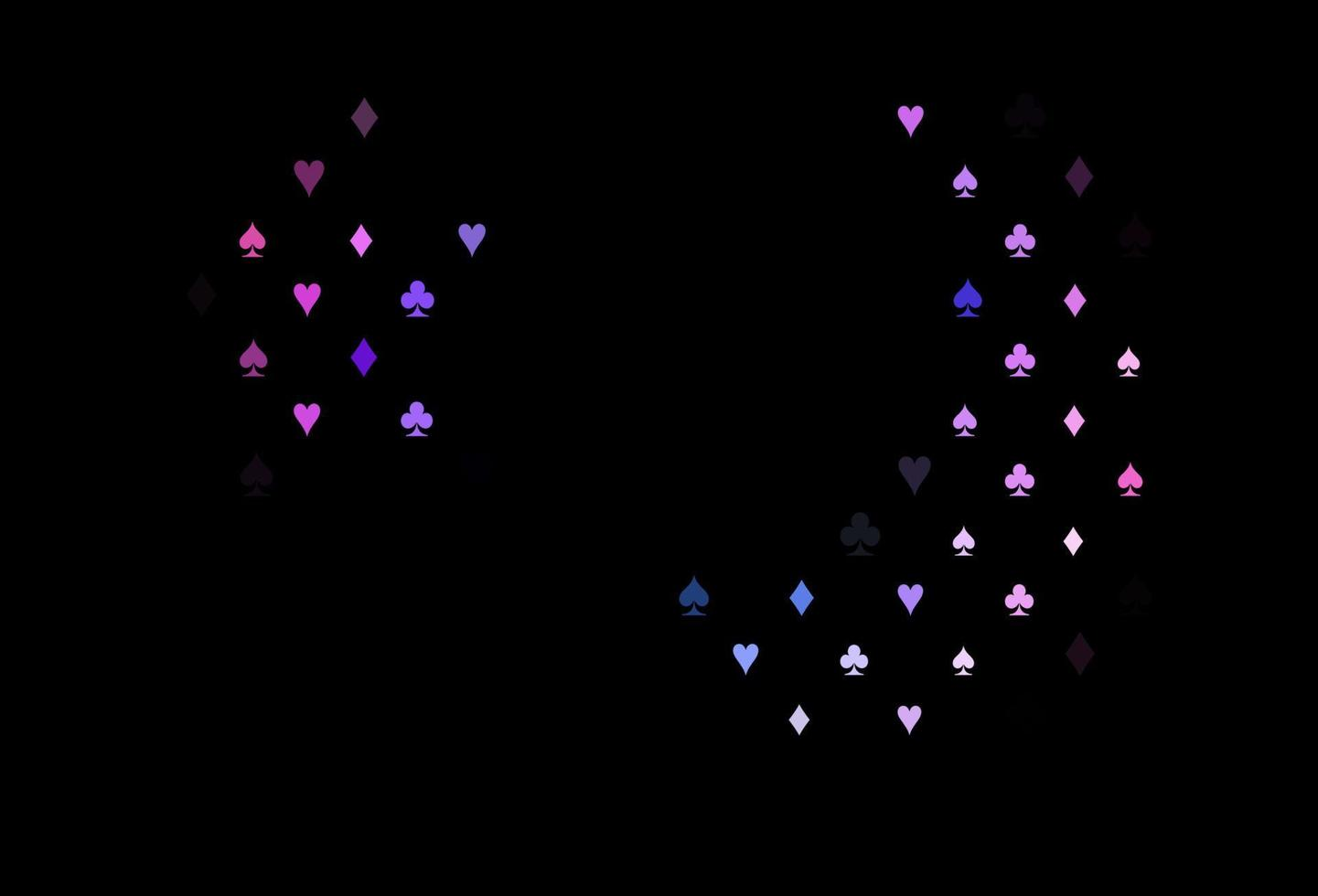 padrão de vetor rosa escuro, azul com símbolo de cartas.
