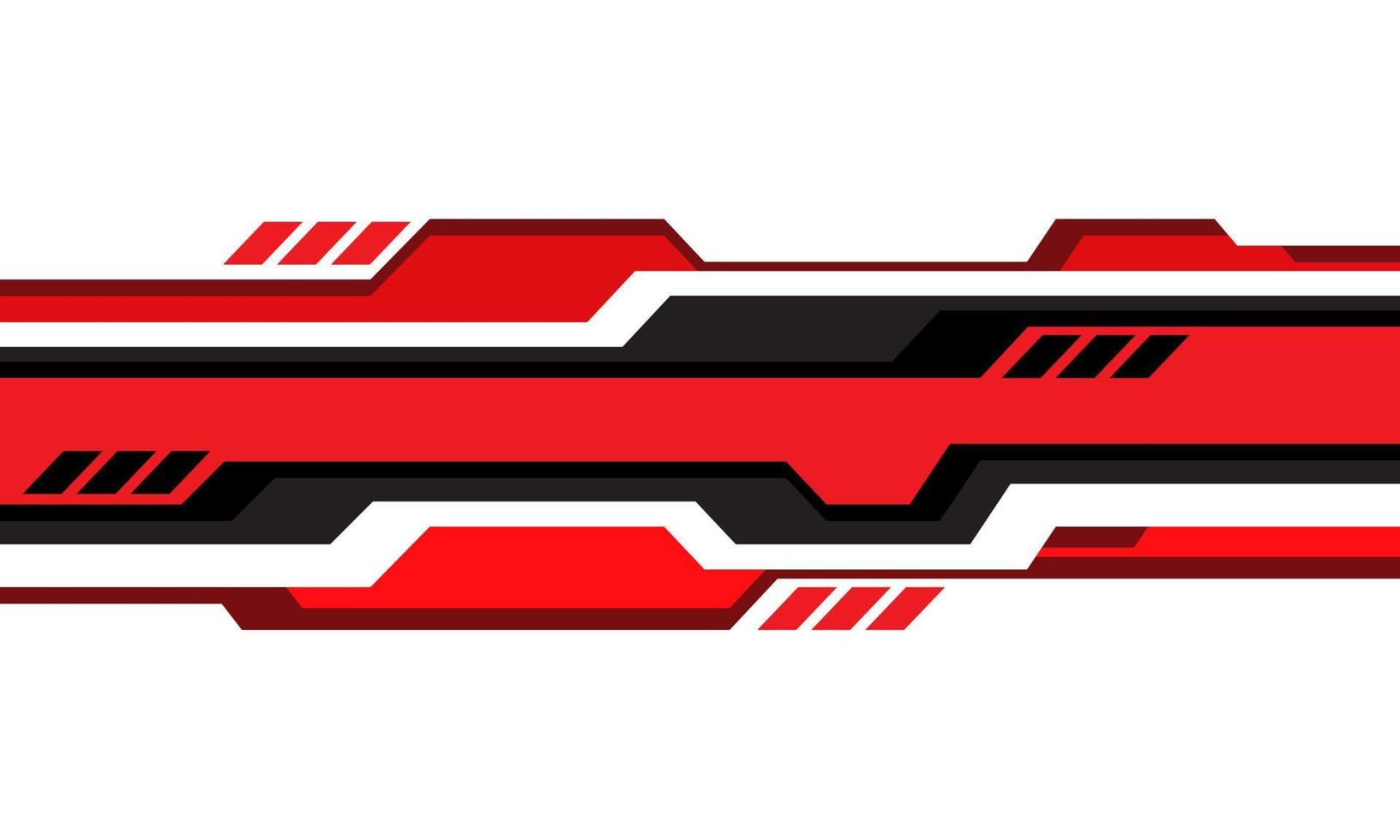 linha geométrica cibernética cinza vermelha abstrata em vetor de fundo de tecnologia futurista moderna de design branco