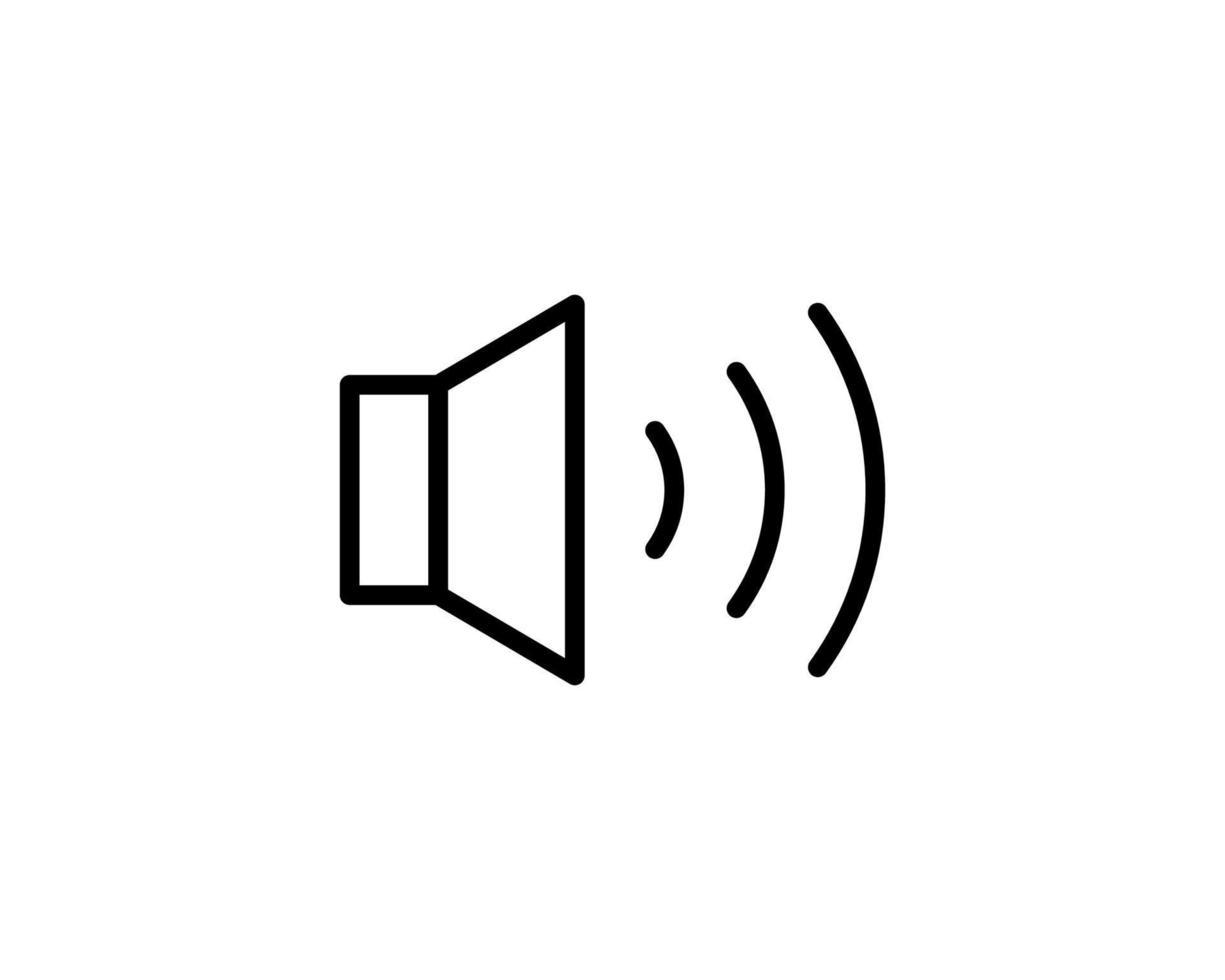 ícone de áudio ou logotipo em estilo de linha moderna. alta qualidade vetor