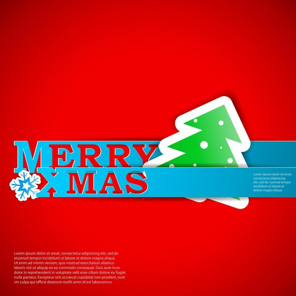 ilustração de eps10 do cartão de tiras de natal feliz vetor