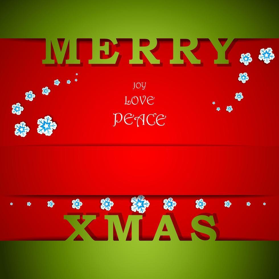 Feliz Natal Cartão Verde e Vermelho com Ilustração do Vetor Eps10 de Desejos