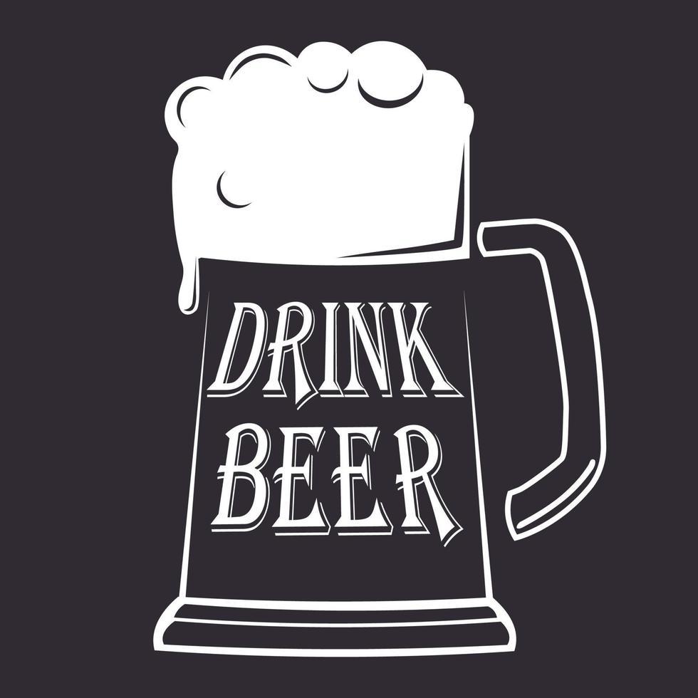 palavra do logotipo estilizada como indústria da cerveja - vetor