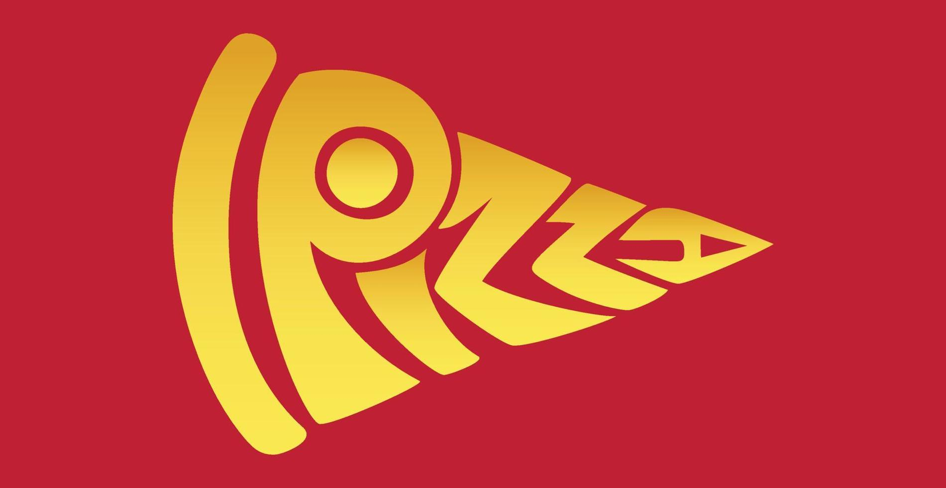 palavra pizza estilizada como um logotipo elegante - vetor
